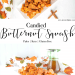 Pinterest image for candied butternut squash