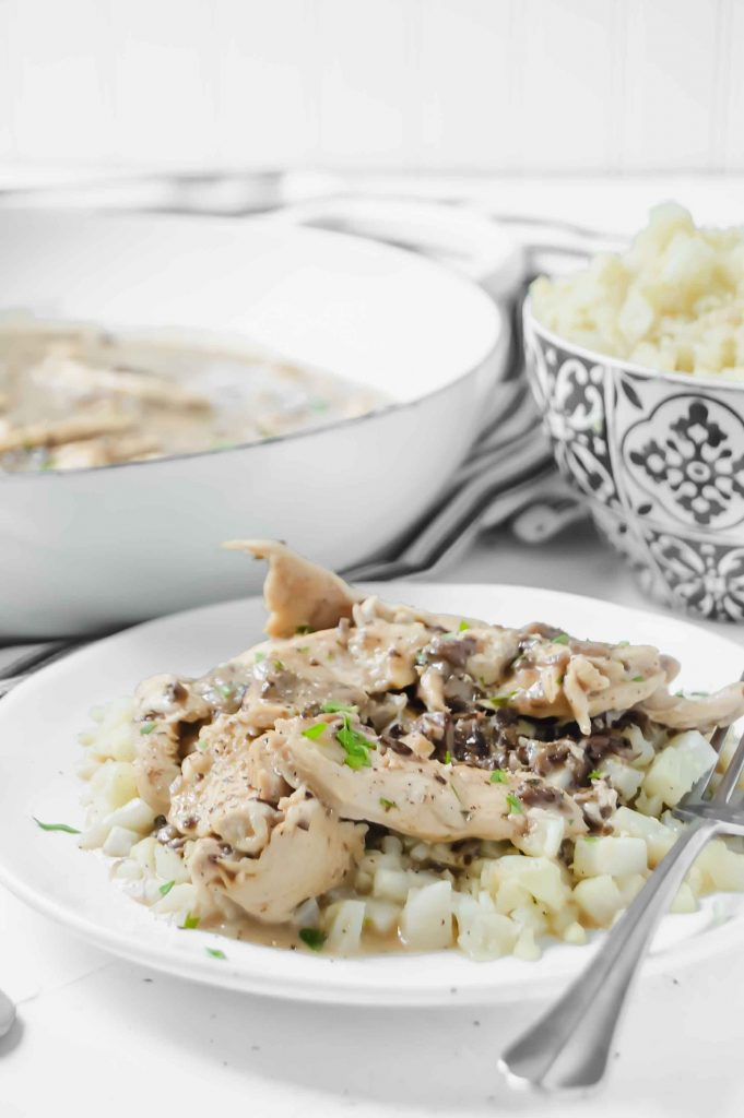 Creamy Chicken And Portabella Mushroom Sauce A Twisted Plate
